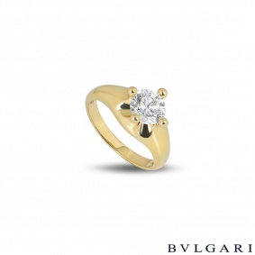 Bvlgari Corona Round Brilliant Cut Diamond Ring 1.01ct D/VVS1